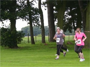 Lymm Trail Race 2012 - 4 runners