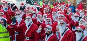 Lymm Santa Dash Start