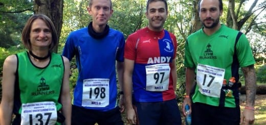 At the start of the Sandstone Trail A Race