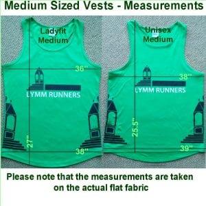 Medium vest - actual measurements